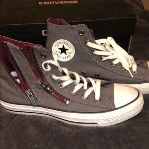 Converse double zip sneakers